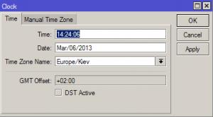 Настройка времени и даты в MikroTik_6