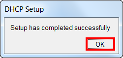 Настройка DHCP сервера MikroTik успешно завершена