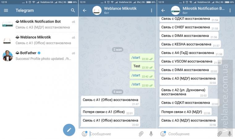 Отправка уведомлений из Mikrotik RouterOS прямо на мобильный